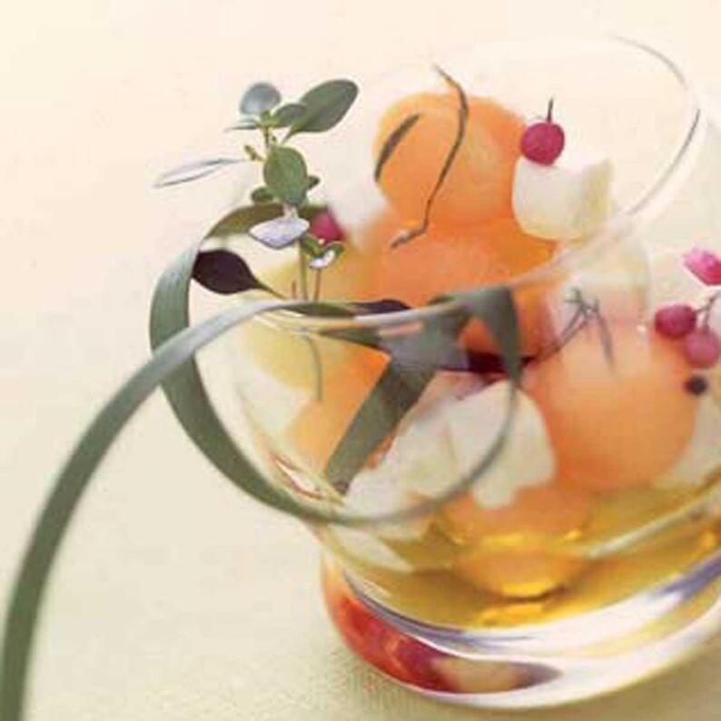 """Résultat de recherche d'images pour """"Salade de chèvre aux 3 melons"""""""
