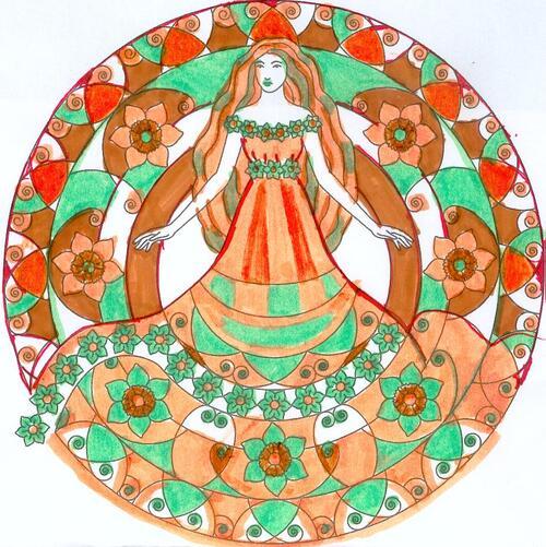 DOMANDALAS album de coloriages mandalas enchantés mes réalisations