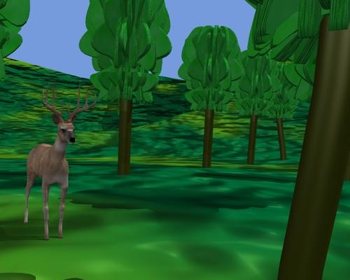 Un chevreuil à l'orée de la forêt