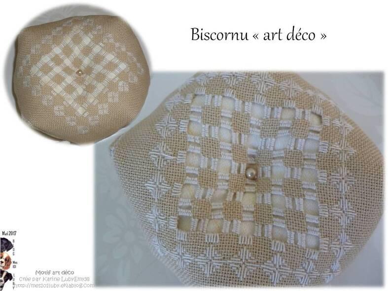 "Création Art Déco ""biscornu"""