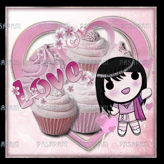 """pendentif cupcake """"love"""""""