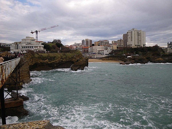 biarritz vue du rocher de la vierge