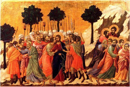L'arrestation du Christ (Maestà de Sienne) - Duccio