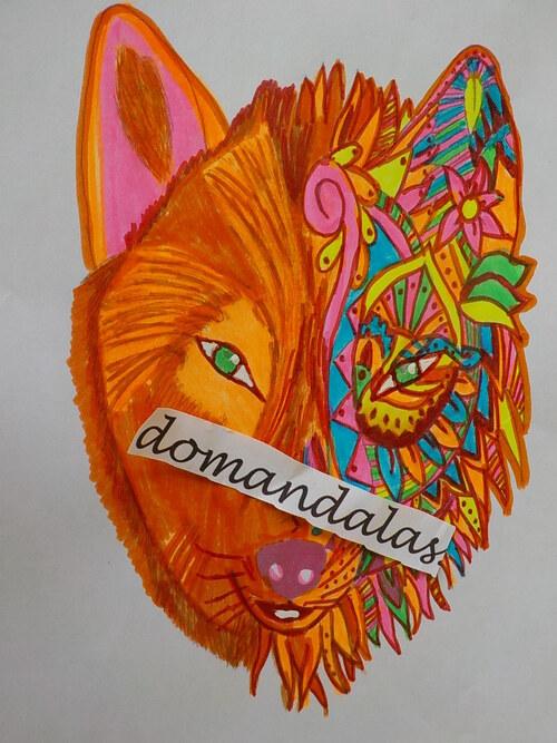 DOMANDALAS  tête loup rêve