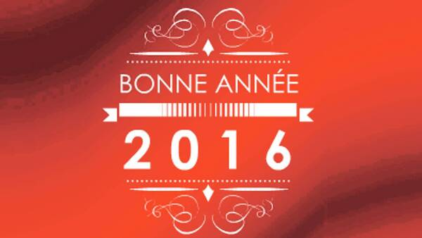 Bonne année 2016 !!!!!!!!
