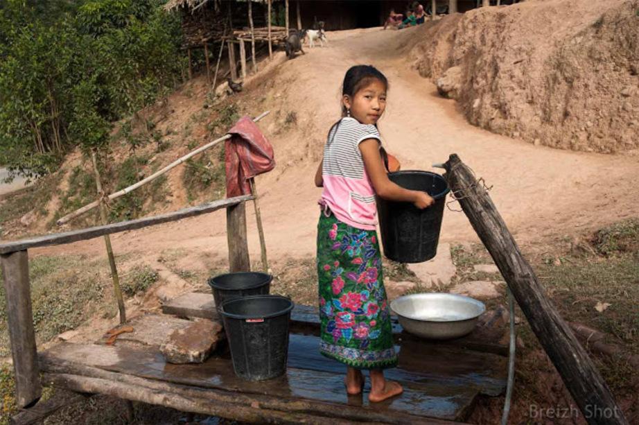 Maison tribale laotienne Muang Sin