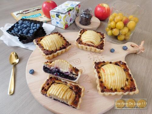 Tartelette amandine aux myrtilles & pomme