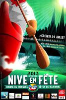 Nive en fête 2013   la Course de pirogues #bayonne #pays basque