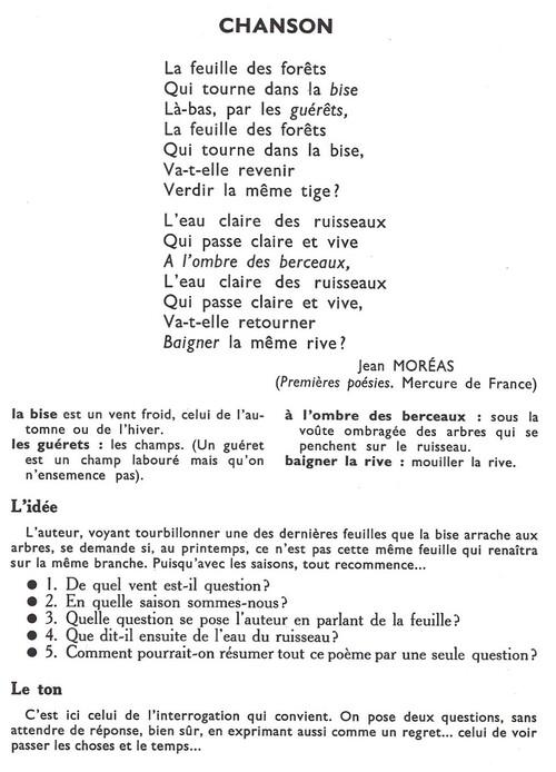 CHANSON (Jean Moréas)
