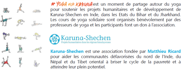 Yoga solidaire : yoga for Karuna