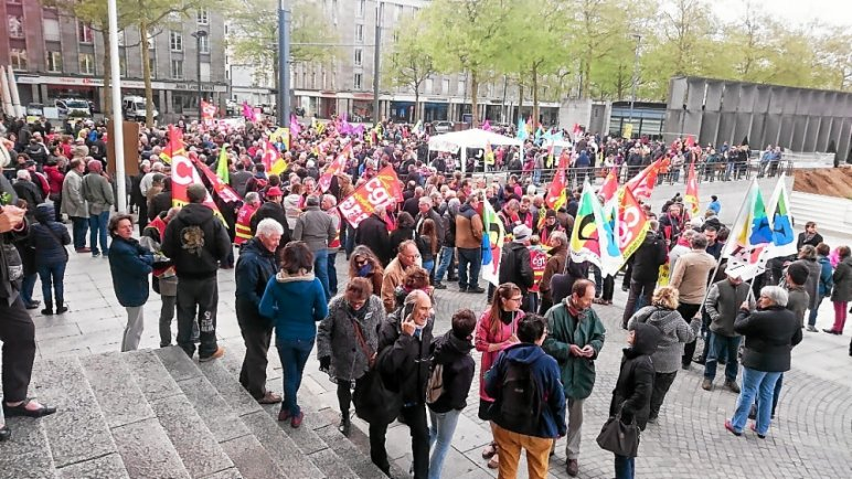 Manifestation du 1er-Mai à Brest