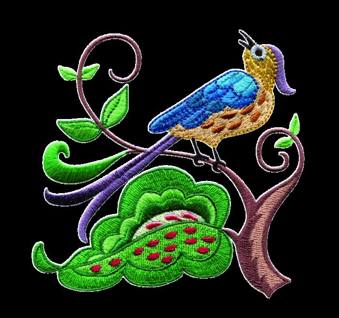 Tubes oiseau du paradis brodés