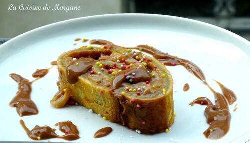 Roulé gourmand poire et carambar