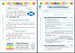 Séquence d'anglais complète en CM2 - Scotland !