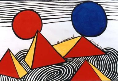 Les ronds concentriques avec Calder