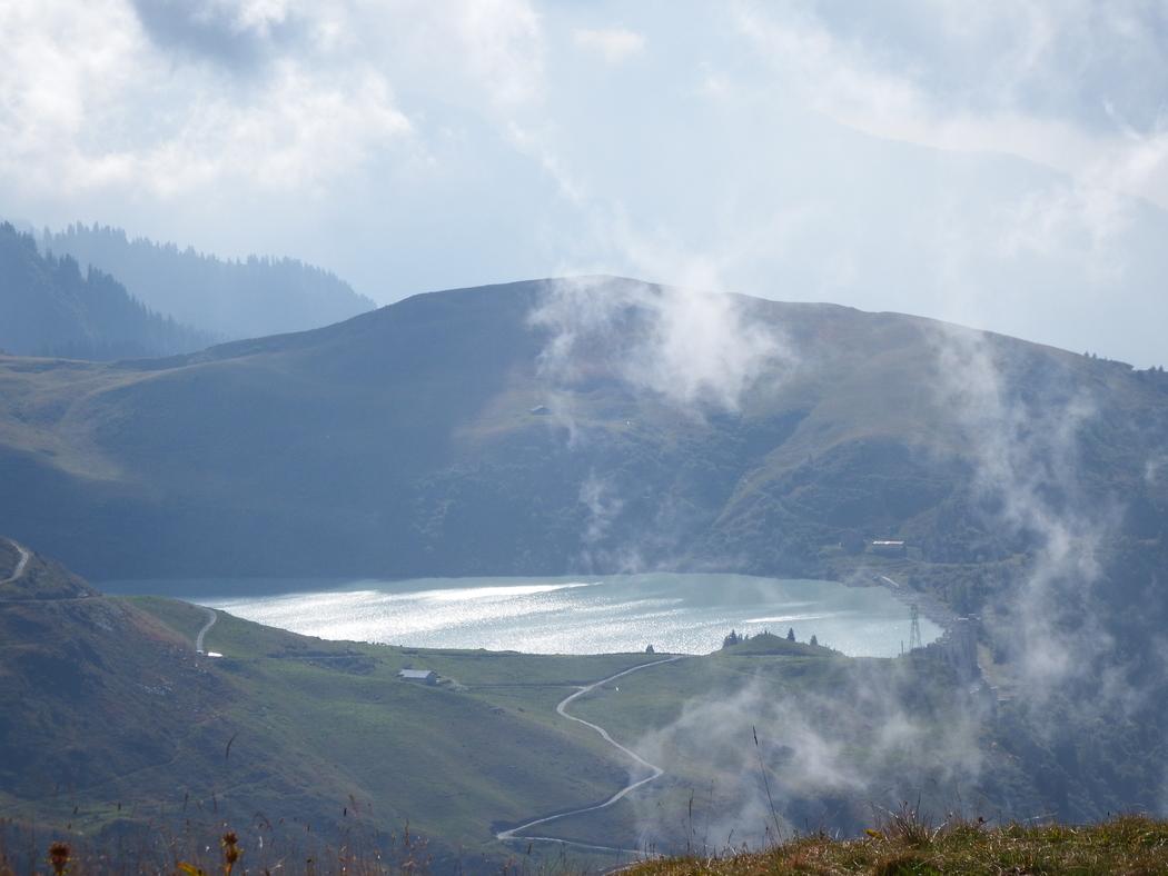 Lac et barrage de la Girotte