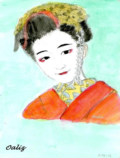 [ Aquarelle ] Portraits japonais