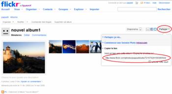 Mettre plusieurs albums Flickr sur une même page
