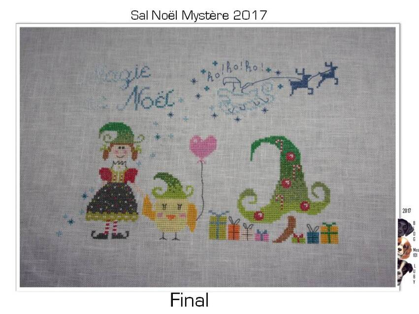Sal Mystère Noël 2017 (broderie terminée)