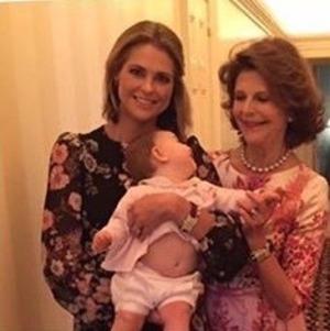 Madeleine, Adrienne et Silvia de Suède