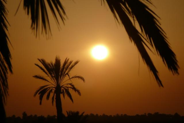 Coucher de soleil aux magnifiques couleurs
