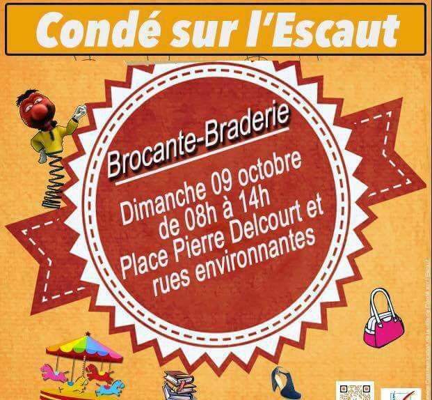 Brocante, à Condé-sur-l'Escaut
