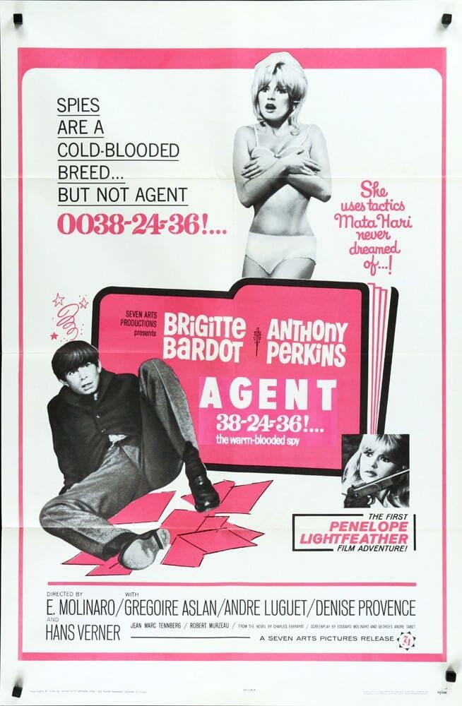 AGENT 38-24-36 BOX OFFICE USA 1965