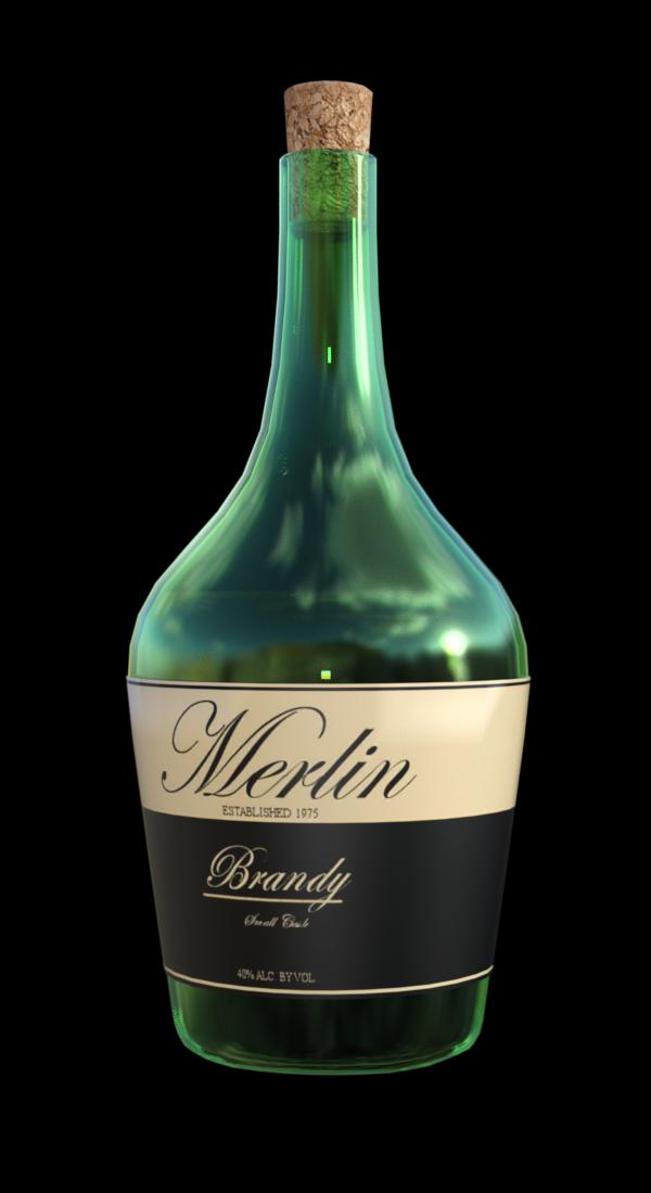 Tube de bouteille de Brandy (image-render)