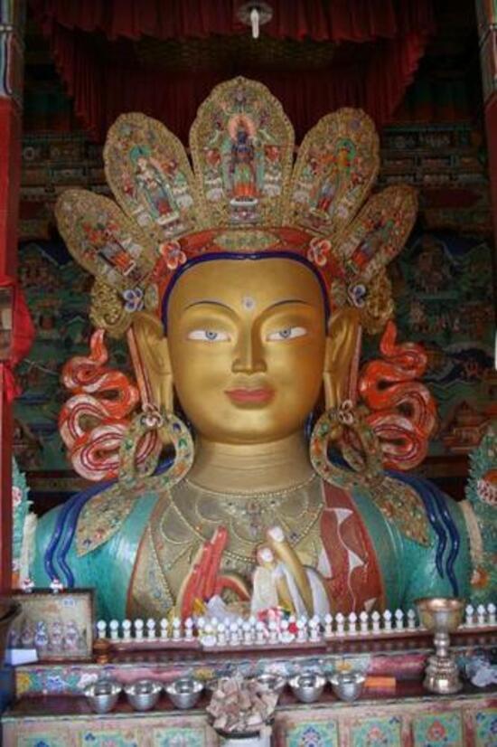 le bouddha du futur à Tiksé