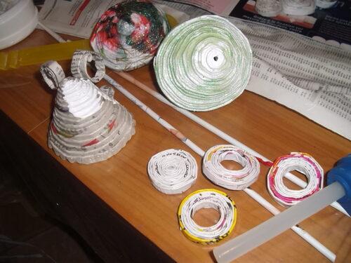 Recyclage papier, décos de Noël et  autres