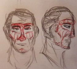 [Moyen] Reliefs basiques d'un visage