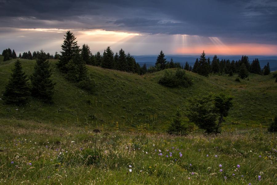 Ambiance nuageuse sur les crêtes du Jura - La Faucille