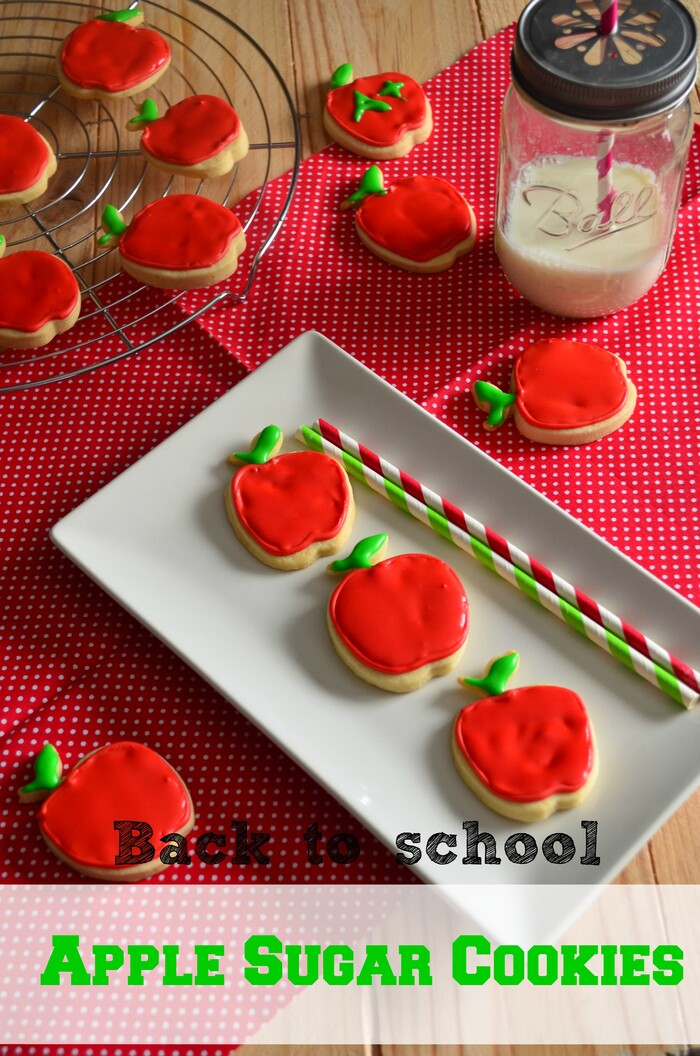 Back to School : Apple Sugar Cookies