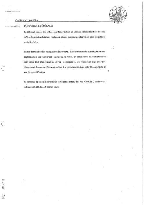 DOCUMENTS DE SECURITE