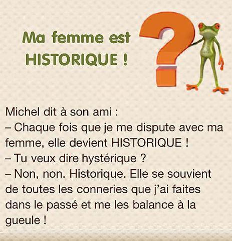 humour femme historique