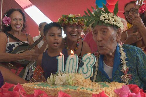 * Un grand anniversaire - Maxime Aubry, vétéran du Bataillon du Pacifique, fête ses 103 ans