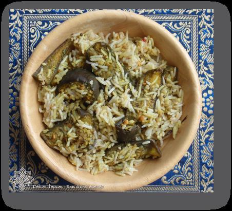 Aubergines au riz basmati