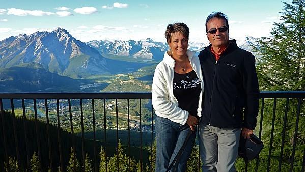 Jour 16 Banff vue du Mont Sulphur Norbert et moi