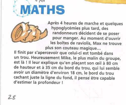 Un peu de maths...