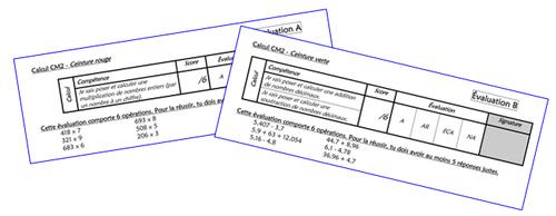 Ceintures de calcul CM2