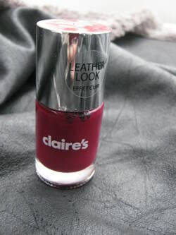 Swatch : Claire's - Burgundy - 60697 - Effet cuir