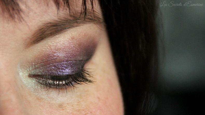 maquillage pistache et prune