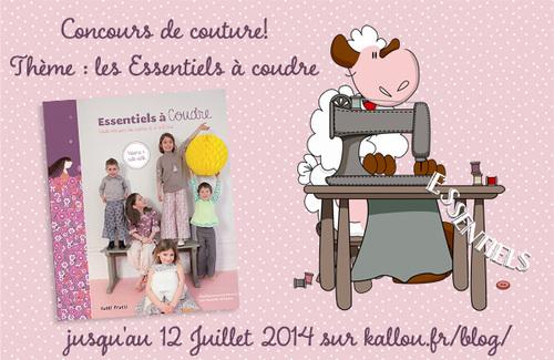 """Concours """"Les essentiels à coudre"""" chez Kallou."""