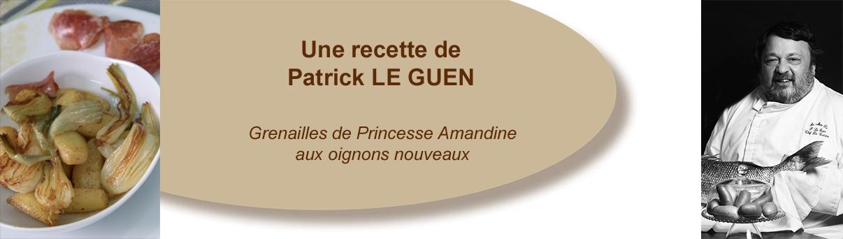 Grenailles de Princesse Amandine aux oignons nouveaux