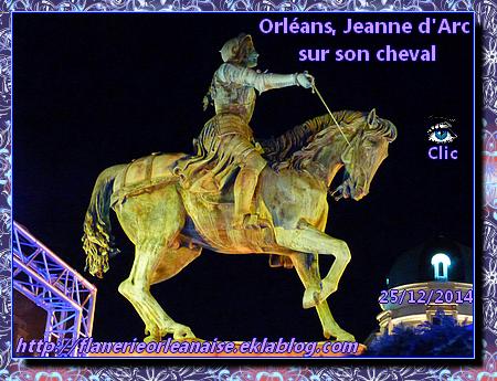 Orléans, ambiance fin d'année: Jeanne d'Arc et son cheval