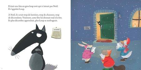 Le loup qui n'aimait pas Noël de Orianne Lallemand