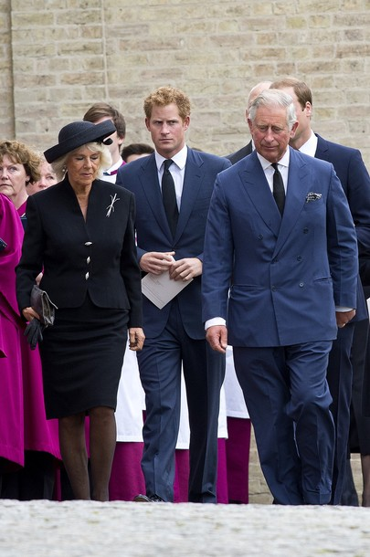 Camilla, Charles, William et Harry