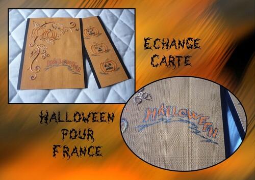 Carte Echange Halloween