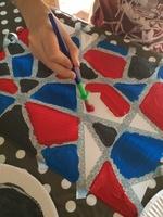 Peinture géométrique (Vacances hiver - Création n° 1)