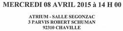 AFUL  Grand Place  Chaville AG le  8 avril 2015  14h ATRIUM